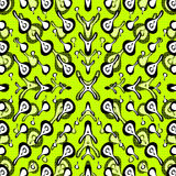 Färgat abstrakt begrepp anmärker på en grön bakgrundsvektorillustration Arkivfoto