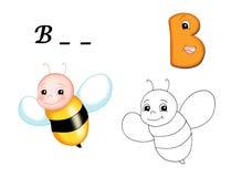 färgat alfabet b Royaltyfri Fotografi