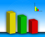 färgat diagram Fotografering för Bildbyråer