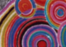 Färgat färgrikt abstrakt begrepp cirklar bakgrundsillustrationen arkivbilder