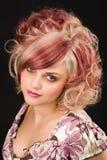 färgat hår royaltyfria bilder