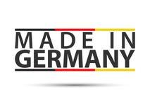 Färgat symbol med tyskt tricolor som isoleras på vit bakgrund som göras i Tyskland arkivbild