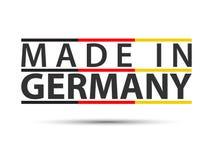 Färgat symbol med tyskt tricolor som isoleras på vit bakgrund som göras i Tyskland arkivfoton