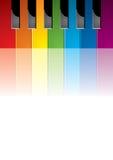 färgat tangentpiano Royaltyfria Bilder