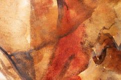 färgat varmt vatten för bakgrund Arkivbilder