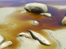 färgat vatten Fotografering för Bildbyråer