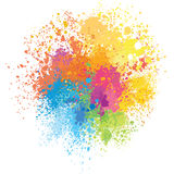 Färgbakgrund av målarfärgfärgstänk Arkivfoto