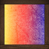 Färgbakgrund med den wood ramen Royaltyfria Foton
