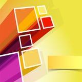 Färgbakgrund med fyrkanter. stock illustrationer
