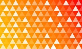 6 färgbakgrunder med triangelstilar Arkivbilder