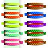 Färgband med cirkeltextur Royaltyfri Bild