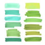 Färgbaner som dras med Japan markörer Stilfulla beståndsdelar för design Vektormarkörslaglängd vektor illustrationer