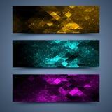 Färgbanermallar. Abstrakta bakgrunder Royaltyfri Bild