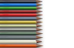 färgbegreppet pencils att skriva för utensils Royaltyfri Fotografi
