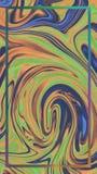 Färgblandning Med ramen Gräsplan och blått stock illustrationer