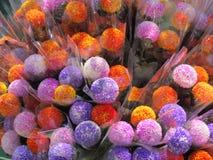 Färgblommaboll royaltyfri foto