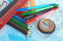 färgblyertspenna Arkivfoton