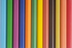 färgblyertspenna royaltyfri fotografi