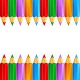 färgblyertspenna royaltyfri illustrationer