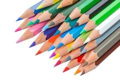 färgblyertspenna Royaltyfri Foto
