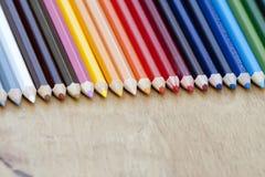 färgblyertspenna Fotografering för Bildbyråer