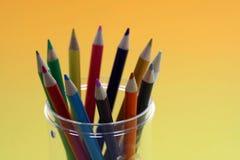 färgblyertspenna Arkivfoto