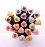 färgblyertspenna för 03 grupp Arkivbild
