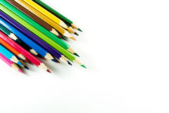 Färgblyertspenna på pappers- bakgrund Royaltyfria Bilder