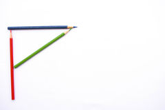 Färgblyertspenna som alfabet P Royaltyfri Fotografi