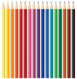 färgblyertspennaset royaltyfri illustrationer