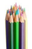 färgblyertspennor royaltyfria bilder