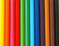 färgblyertspennor royaltyfri bild