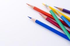 färgblyertspennor Arkivbild