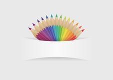 Färgblyertspennor Royaltyfri Foto