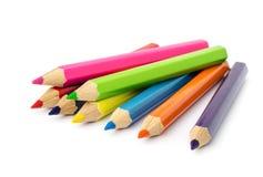 Färgblyertspennor. Arkivbilder