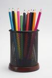 färgblyertspennor Arkivbilder