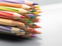 färgblyertspennor Royaltyfri Fotografi