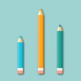 Färgblyertspennor isolerade vektorn för den bästa sikten Royaltyfri Illustrationer