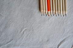 Färgblyertspennor, ställning ut ur ett folkmassabegrepp Royaltyfria Bilder