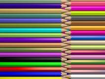 Färgblyertspennor, tolkning 3d Arkivfoto