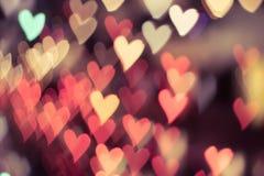FärgBokeh hjärta Arkivbilder