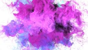 Färgbristning - färgrika purpurfärgade rosa färger röker för partikelalfabetisken för explosionen den fluid matten
