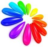 Färgcirkel stock illustrationer