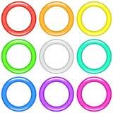 Färgcirklar, uppsättning Arkivfoton
