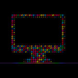 färgdator arkivbild