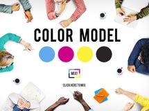 Färgdesignmodell Art Paint Pigment Motion Concept Fotografering för Bildbyråer