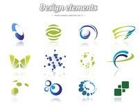 Färgdesignuppsättning Arkivbilder