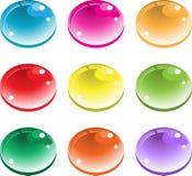 färgdroppar Arkivbild