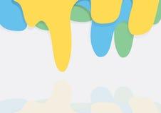Färgdroppbakgrund royaltyfri illustrationer
