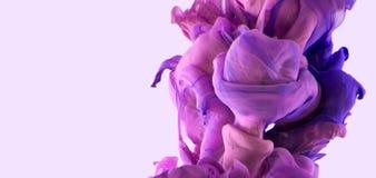 Färgdroppe Violetta varma rosa färger fotografering för bildbyråer